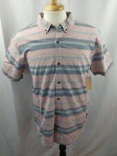 Levi's Men's Stripe Cotton Shirt Sz Large MSRP $44.50