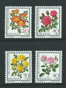 1977 SWITZERLAND Semi-Postals Flowers Set (Scott B451-B454) MNH
