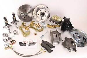 """1964-1972 GM A, F, X Body Disc Brake Conversion Kit 9"""" Booster Drilled Rotors"""