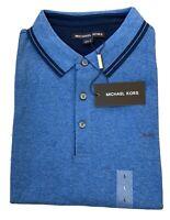 Michael Kors Mens Pima Soft Touch Classic Fit Polo Shirt Short Sleeve Size - L