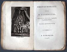 CONTES MORAUX PAR M. MARMONTEL NOUVELTE EDITION IV TOMO A LONDRES 1795