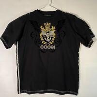 Coogi Australia Black Short Sleeve Embroidered Mens Graphic T-Shirt, Size XXL
