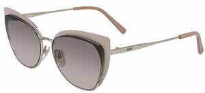 MCM MCM144S-717 Women's Gold-Tone Cat-Eye Sunglasses Brown Gradient Lens