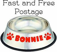 Personalized Name Dog / Cat Bowl / Basket / Bed Vinyl Sticker Pooches Own Bowl