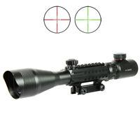 C4-12X50 EG Optical Rifle Scope Red Green Dual illuminated with Side Rails-Mount