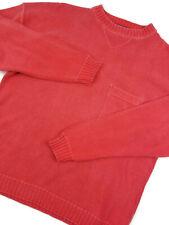 Woolrich Sweater Large Mens Long Sleeve Crewneck Sweatshirt Pullover Salmon Sz L