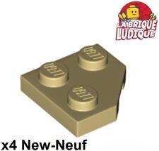 Lego 26601 x2 Wedge Plate 2 x 2 Cut Corner Sand Green