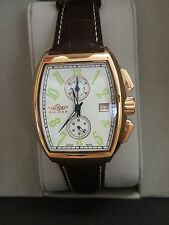 NIB Balmer Rosegold Tone Continental Chronograph Brown Leather Strap Mens Watch