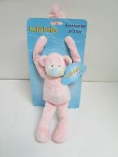 KELLY BABY PINK MONKEY DOOR HANGER SOFT PLUSH TOY - NEW KellyBaby