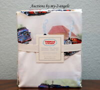 NEW RARE Pottery Barn Kids THOMAS & FRIENDS 4-Pc Full Sheet Set *train the tank