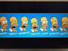 HOMER SIMPSON DAYS OF WORK 24X36 POSTER THE SIMPSONS ANIMATED TV SERIES FUNNY!!!