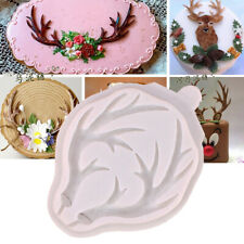 Deer Horn Silicone Fondant Mould Cake Decoration Baking Topper Chocolate Mold 3D