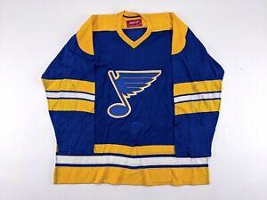 1970s St. Louis Blues TEAM ISSUED Blank Hockey Jersey