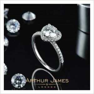 Halo Heart Shape 1.5 Ct Round Diamond White Gold Finish Women Engagement Ring