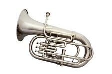 BRAND NEW Bb SILVER NICKEL 4 VALVE EUPHONIUM WITH FREE HARD CASE+MOUTHPIECE