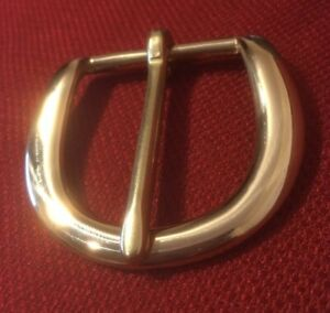 """1-1/2""""  Solid Brass Belt Buckle - Classic D style with Heavy Duty Quality"""
