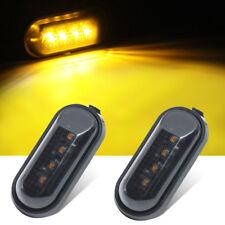 2X Flat Style Smoke Lens Amber light Turn Signal Fender Lights Sealed for Honda