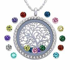 Family Tree of Life Birthstone Necklace Jewelry - Gifts for  Assorted Colors