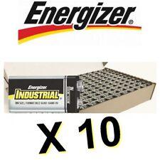 Lot de 10 piles ENERGIZER INDUSTRIAL 6LR61 6LF22 9V 9 VOLT MN1604 -BULK-