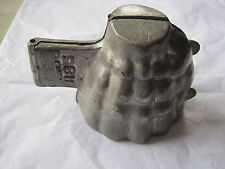 Antique pewter ice mould of A FANCY LADIES SKIRT shape No.1185