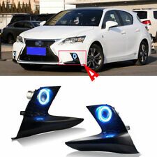 For LEXUS CT200H 2015 Full Fog Lights Lamp Kit COB Angel Eye Bumper Cover Lens s