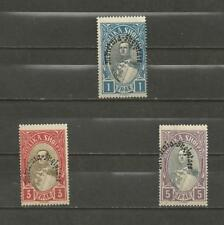 "ALBANIA - 1928 Overprinted ""Mbretnea Shqiptare"" - 1,3, & 5FR MINT UNHINGED."