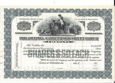 PHILADELPHIA AND GARRETTFORD STREET RAILWAY COMPANY... 1900'S UNISSUED STOCK