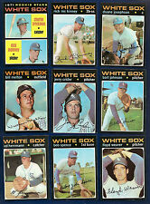 1971 Topps Lot of 52 Chicago White Sox (27) Cubs (25) Ron Santo Williams Hi #s