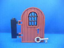 Lego Porte grillagée marron & clef Neuves Reddish Brown door + Key NEW REF 64390