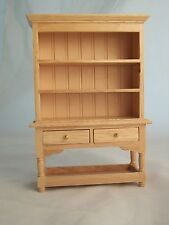 Kitchen Hutch - Oak Finish T4360  miniature dollhouse furniture wood 1/12 scale