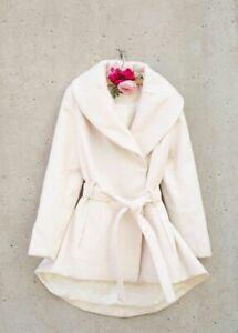 NWT Joyfolie NEVE JACKET Coat IN CREAM Girls Size 12