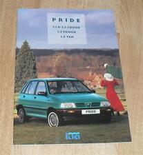 Kia Pride Brochure 1994 - 1.1 1.3 LX 3 Door 5 Door Van