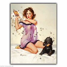 METAL SIGN WALL PLAQUE PIN-UP PILLOW GIRL ELVGREN PIN UP poster art picture