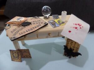 Wonderful  Witch's Assortent Dollhouse Miniatures 1:12 scale with Table