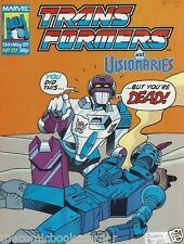 Marvel UK Comics 1989 The TRANSFORMERS #217 Very Fine Condition Bagged & Boarded