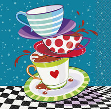 MAD HATTER TEA PARTY SMALL NAPKINS (16) ~ Birthday Supplies Beverage Dessert