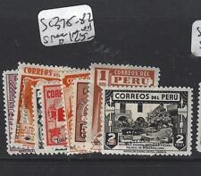 PERU (P1304B) SC 375-382  SPECIMEN  MNH