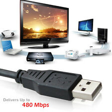 2X3FT Premium USB 2.0 Type A Male to Male support Hi-speed data transfer 480Mbps