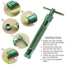 US Green Clay Extruder Polymer Craft Gun Cake Sugarcraft Kit Tool W/20Discs New