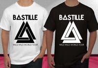 New Bastille Wild Wild World tour concert Black White Men's T-shirt S-2XL