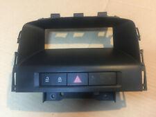 Vauxhall Astra J 2009-2015 DASH DISPLAY SCREEN SURROUND HAZARD LOCK SWITCH