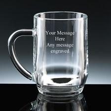 PERSONALIZZATO 1 pinta vetro Boccale INCISIONE GRATUITA OGNI MESSAGGIO regalo