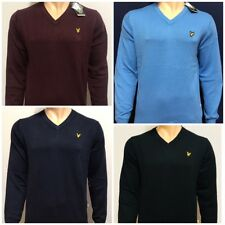 LYLE AND SCOTT LONG SLEEVE V-NECK JUMPER FOR MEN