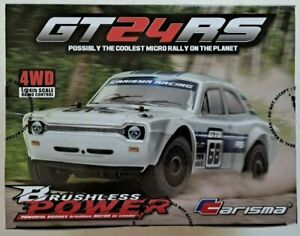 Carisma GT24RS Retro Micro Rally Car 4WD Brushless RTR 1/24 Scale 2.4GHz #80468