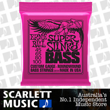 Ernie Ball 2834 Super Slinky Bass Guitar Strings 45-100 .045-.100 Roundwound