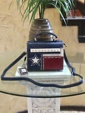 Western Montana West Texas Pride Collection Messenger/Shoulder Bag Navy