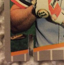 GREEN/BLACK LOW SLIT LEFT OF BAT1989 BILL RIPKEN FUK FACE BASEBAL ERROR CARD#340