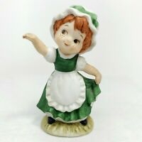 Vintage Lefton St. Patricks Irish Porcelain Girl Figurine