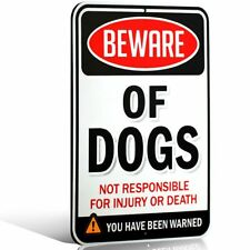 Beware Of Dogs Sign Dogs Aluminum Metal Fence Yard Warning Security Poster New