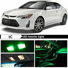 9x Green Interior LED Lights Package Kit for 2005-2016 Scion tC